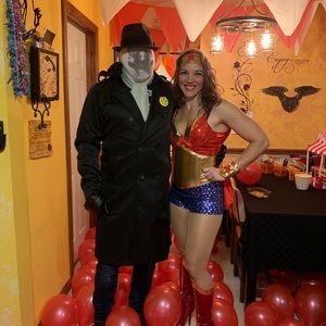 Wonder Woman like costume - sequin cape - size M